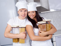 Two cooks Royalty Free Stock Photo
