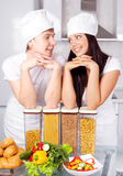Two cooks Royalty Free Stock Photos