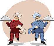Two cooks Stock Photo