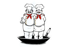 Two Cooks. Illustration Royalty Free Stock Image