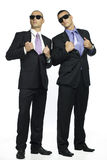 Two cool mobster guys Royalty Free Stock Photos