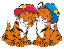 Two cool tigers Stock Image