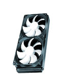 Two cooling fans Stock Photo