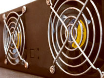 Two cooling fans Royalty Free Stock Photo