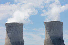 Two Cooling Towers Royalty Free Stock Images