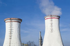 Two cooling towers Royalty Free Stock Photos