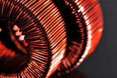 Two Copper Inductors Royalty Free Stock Photography