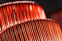 Two copper inductors Royalty Free Stock Photos