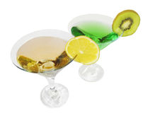 Two cordials glasses Stock Image