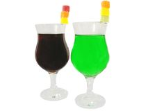 Two cordials glasses Royalty Free Stock Photos