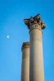 Two Corinthian column Stock Photography