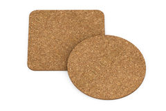 Two Cork Beer Coasters. 3d Rendering Royalty Free Stock Image