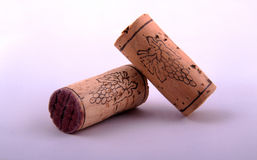 Two corks. In a background Stock Photography
