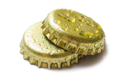 Two corks from beer and lemonade Stock Photo