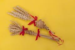 Two corn dollies Stock Photo