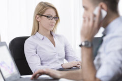 Two corporate people Royalty Free Stock Photography