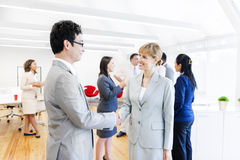 Two Corporate People having an Agreement Royalty Free Stock Photo