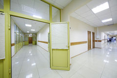 Two corridors with doors to offices Stock Images