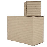 Two corrugated cardboard packages Stock Photos
