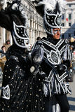 Two costumed people at carnival. Two people dressed up for carnival in Venice 2009 Royalty Free Stock Photo