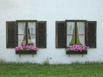 Two Cottage Windows Stock Image
