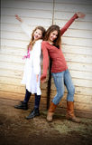 Girly Country Dancers Royalty Free Stock Photography