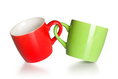 Two coupled coffee mugs Royalty Free Stock Image