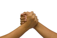 Two coupled hands Stock Images
