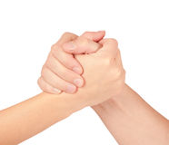 Two coupled hands, isolated Royalty Free Stock Photo