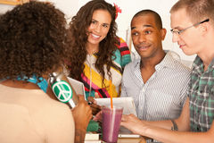 Two Couples Dining Out Royalty Free Stock Images