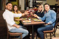 Two couples on a double date Stock Image