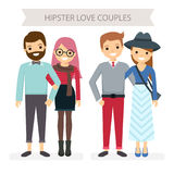 Two couples Royalty Free Stock Images