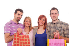 Two Couples Shopping Stock Photo