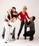 Two couples of teenagers Royalty Free Stock Images