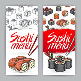 Two covers for sushi menu Royalty Free Stock Images