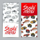 Two covers for sushi menu - 2 Royalty Free Stock Photos
