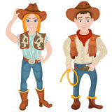 Two cowboy characters Royalty Free Stock Photography