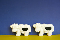 Two cows. Two cow shaped soap bars Royalty Free Stock Photography