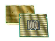 Two CPU, hyper DoF. Computer accessories, modern central processors, isolated,  turned, hyper DoF Stock Images