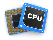Two CPU Stock Photo