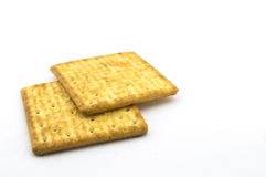 Two Crackers. Isolate on white background Royalty Free Stock Photography