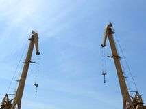 Two crane Royalty Free Stock Images