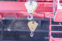 Two crane hooks Royalty Free Stock Photos