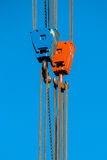 Two Crane Lifting Hooks Stock Images