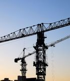 Two cranes Royalty Free Stock Photography