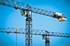 Two cranes Stock Photography
