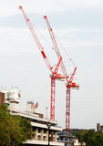 Two cranes in central London Stock Photography