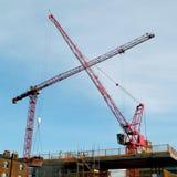 Two cranes Stock Photos