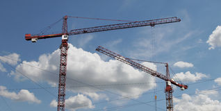 Two cranes Stock Photos
