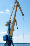 Two cranes in the port of Stock Photos